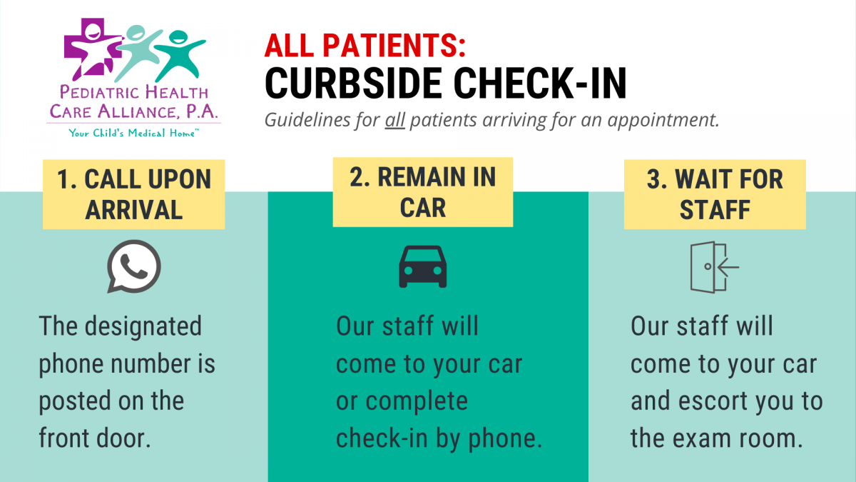 Curbside Check In Graphic
